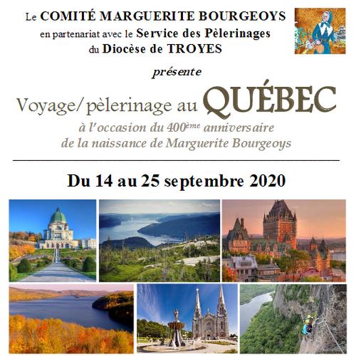 Voyage/pèlerinage au Québec organisé par le comité Bourgeoys