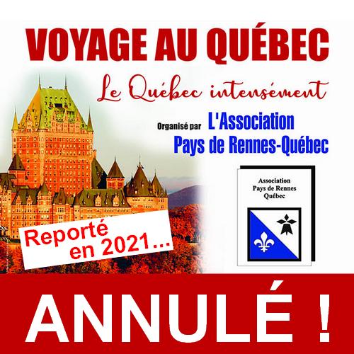 Voyage au Québec organisé par l'Association Pays de Rennes-Québec